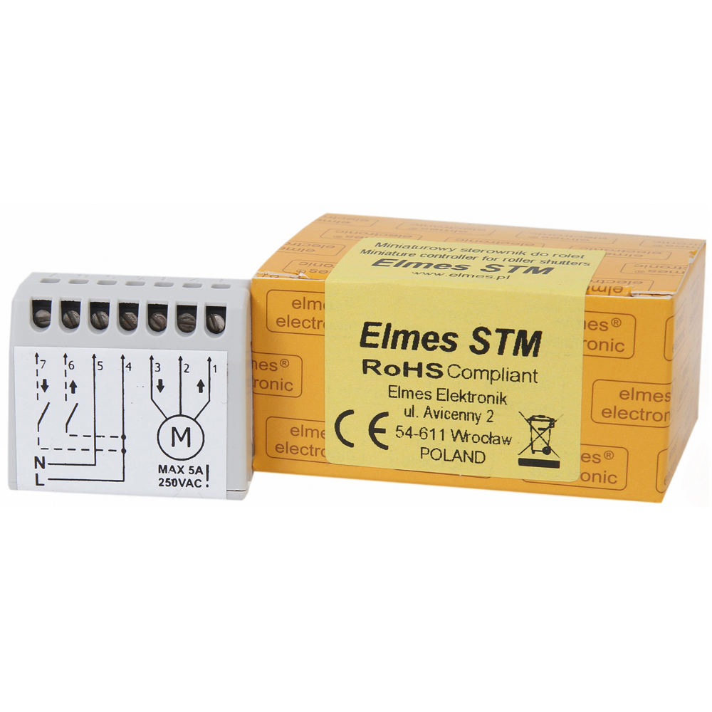 Elmes Elektronik Miniature Controller For Window Rolling Shutters Or Shutter Motor Control Electronic Circuits Diagram Stm