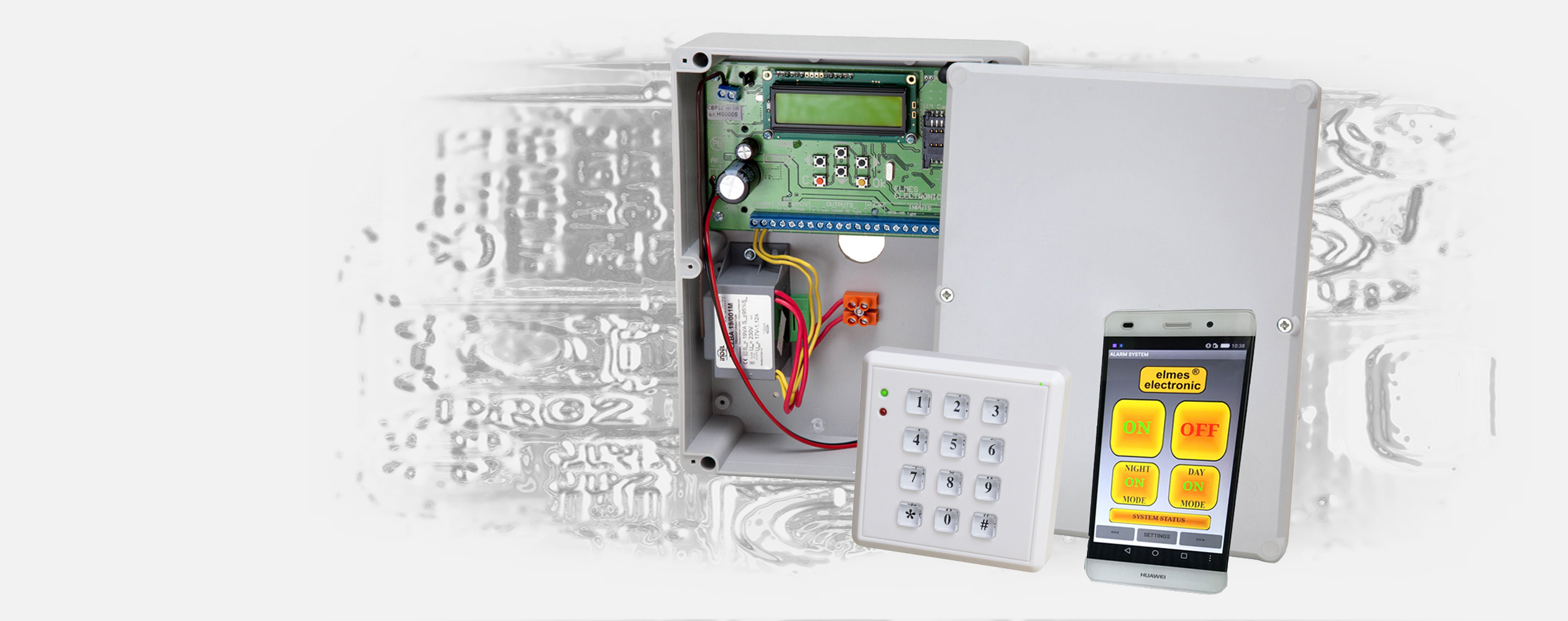 CENTRALA ALARMOWA CBP32 sterowana telefonem, klawiaturą bezprzewodową, pilotem