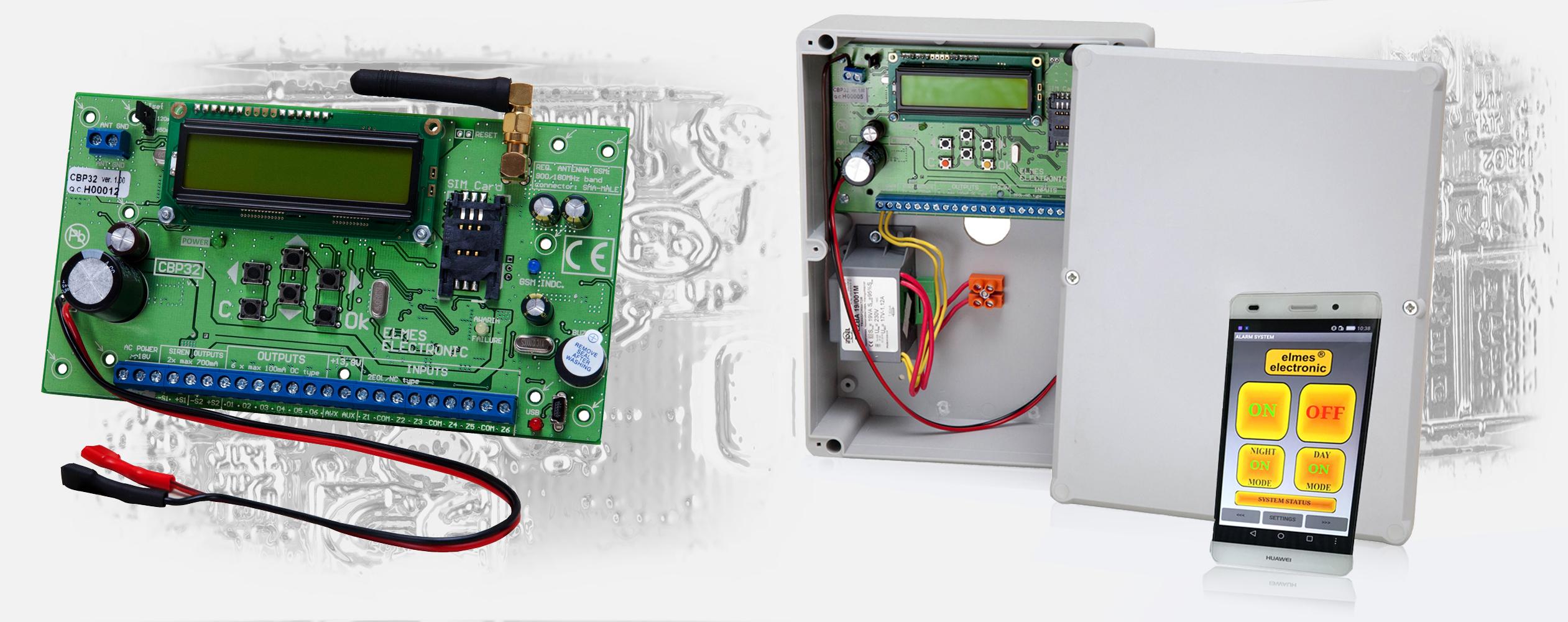 CBP32- bezprzewodowo-przewodowa centrala alarmowa.