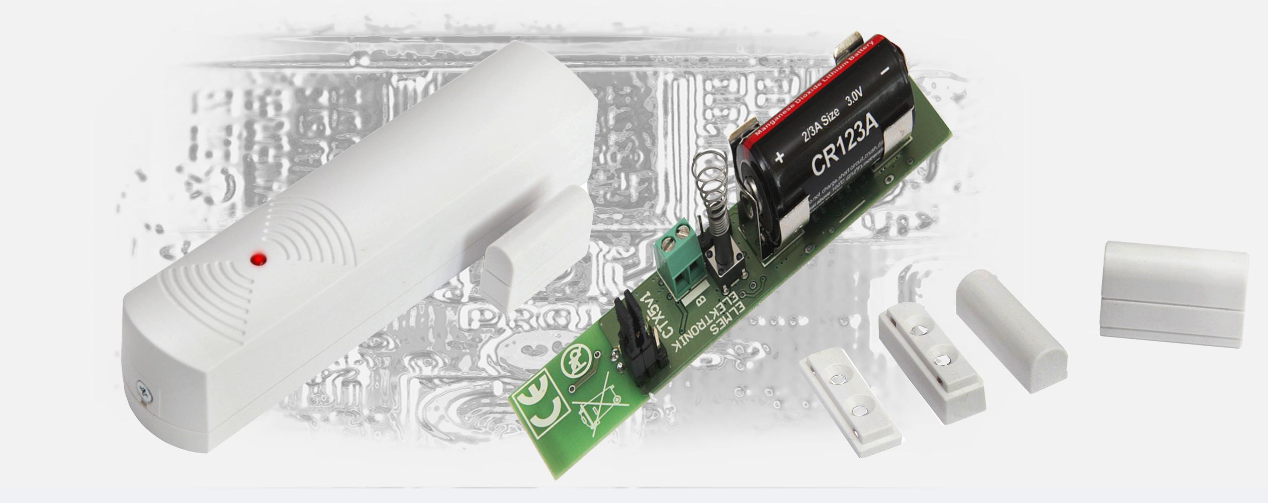 Bezprzewodowy magnetyczny detektor otwarcia i zamknięcia zasilany bat. 3V CR123A.