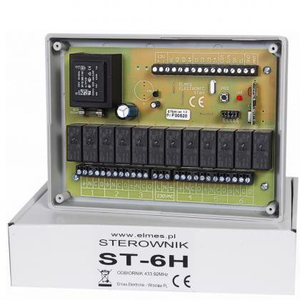 ST6H - sterownik modułowy do 6 rolet.