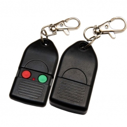 2 CHANNEL KEYFOB TRANSMITTER WITH BUTTON COVER