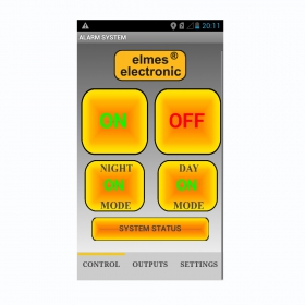 Elmes Electronic App. for mobile with android operating system.