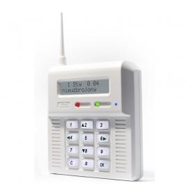 CB32GB - centrala z wbudowanym modułem GSM. Białe podświetlenie.