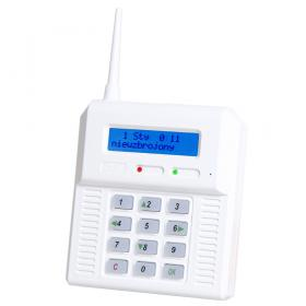 CB32GN - alarm panel with built-in GSM module. Blue backlight of LCD and keyboard.
