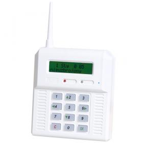 CB32GZ - alarm panel with built-in GSM module. Green backlight of LCD and keyboard.