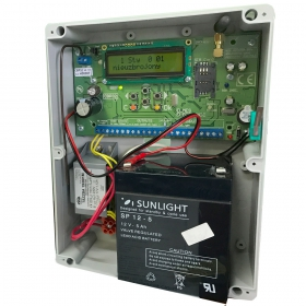 CBP32 - alarm control panel with casing + transformer (no battery in set) example with bat. 5 Ah