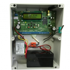 CBP32 - alarm control panel with casing + transformer (no battery in set) example with bat. 1,2Ah.